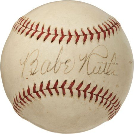 80849: 1930's Babe Ruth Single Signed Baseball, PSA EX-