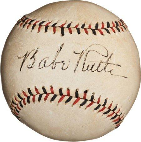80850: 1930's Babe Ruth Single Signed Baseball.