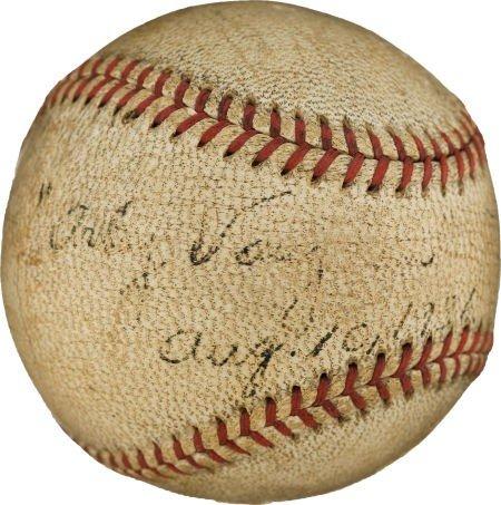 80853: 1936 Arky Vaughan Single Signed Baseball--The On