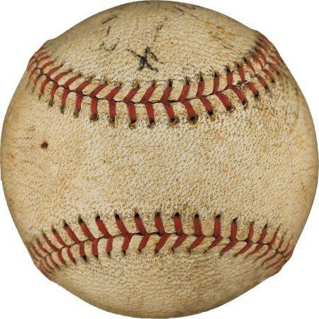 80853: 1936 Arky Vaughan Single Signed Baseball--The On - 3