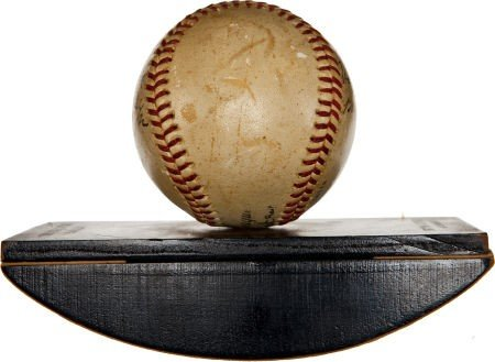 """80863: 1942 """"The Pride of the Yankees"""" Cast Signed Base - 5"""