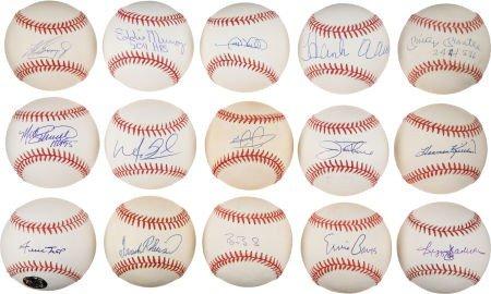 80904: 1980's-2000's 500 Home Run Club Single Signed Ba