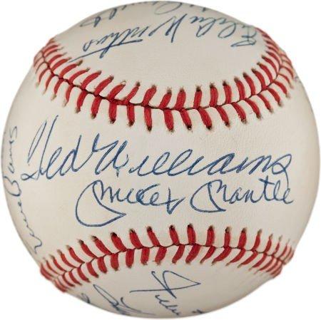80905: Circa 1990 500 Home Run Club Signed Baseball.