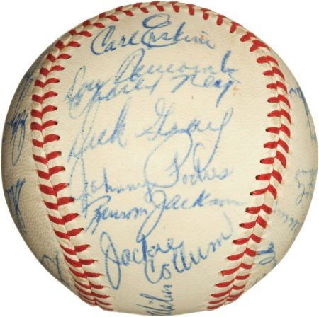 81082: 1958 Los Angeles Dodgers Team Signed Baseball. - 4