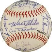 81087: 1963 Los Angeles Dodgers Team Signed Baseball.