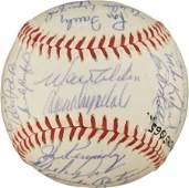 81088: 1965 Los Angeles Dodgers Team Signed Baseball.
