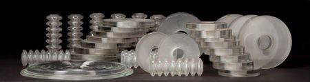 63208: R. LALIQUE GLASS CHANDELIER PARTS  Comprising on