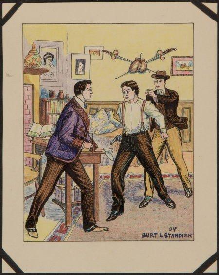 91002: Edgar Church Dime Novel Cover Illustration Sampl