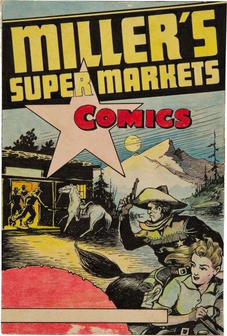 91005: Edgar Church Miller's Super Market Comics Cover