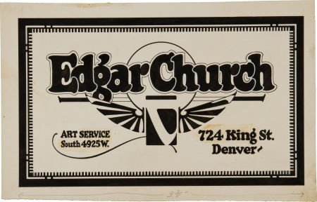 91009: Edgar Church Self-Promotional Logo King Street I