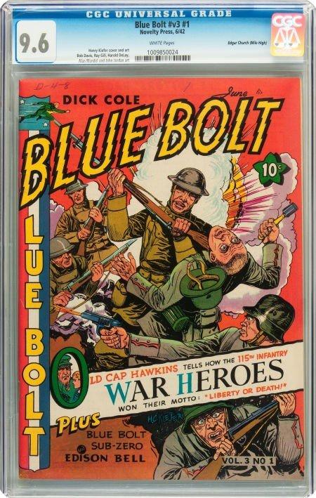 91010: Blue Bolt V3#1 Mile High pedigree (Novelty Press