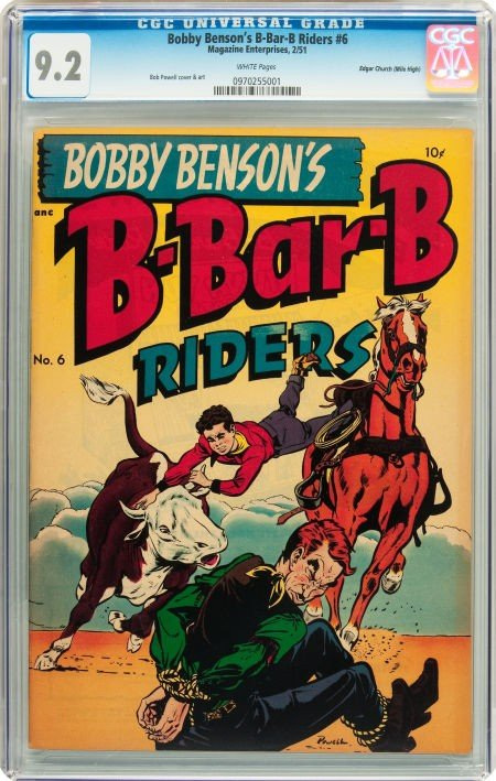 91011: Bobby Benson's B-Bar-B Riders #6 Mile High pedig