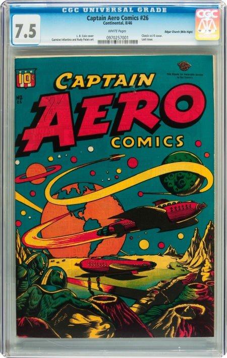 91012: Captain Aero Comics #26 Mile High pedigree (Holy