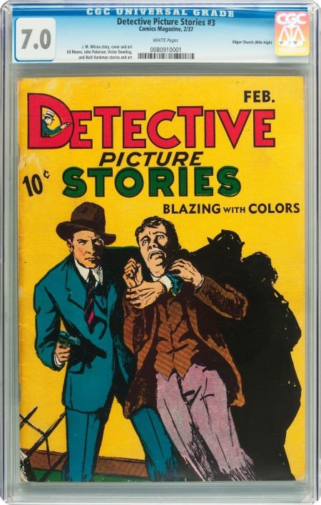 91014: Detective Picture Stories #3 Mile High pedigree