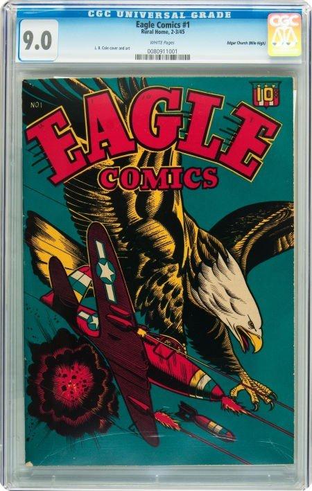 91015: Eagle Comics #1 Mile High pedigree (Rural Home ,