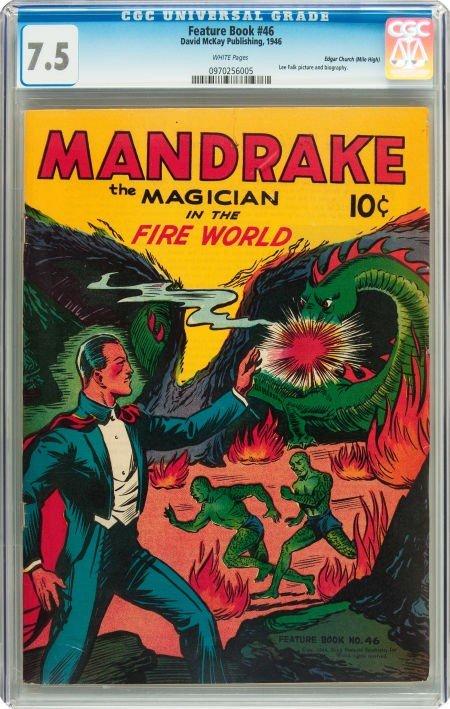 91016: Feature Books #46 Mandrake the Magician - Mile H