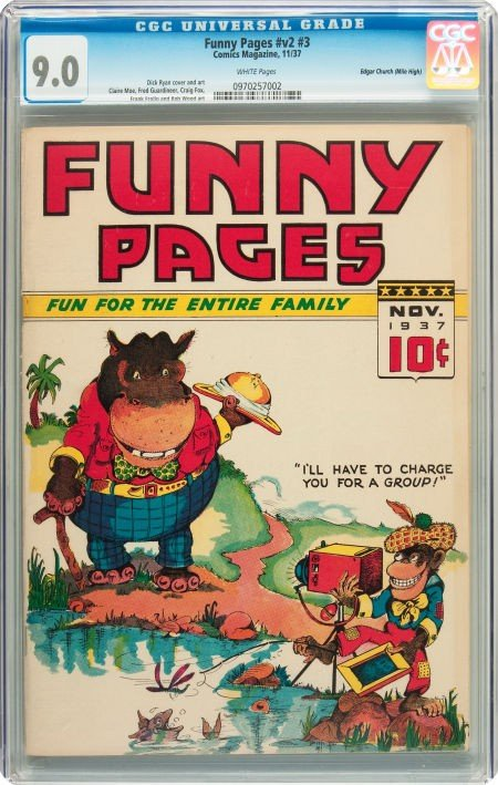 91017: Funny Pages V2#3 Mile High pedigree (Comics Maga