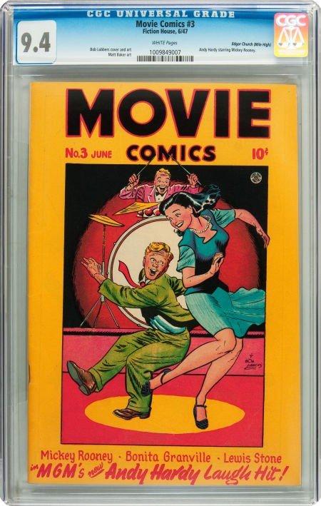 91018: Movie Comics #3 Mile High pedigree (Fiction Hous