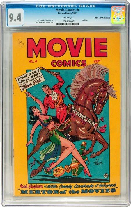 91019: Movie Comics #4 Mile High pedigree (Fiction Hous
