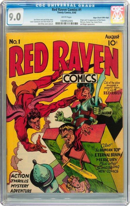 91022: Red Raven Comics #1 Mile High pedigree (Timely,
