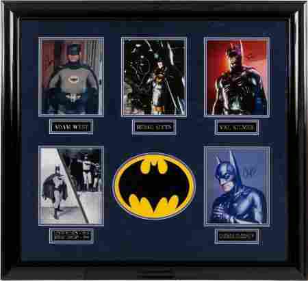 91244: Batman Actor 1943-97 Photo Group.