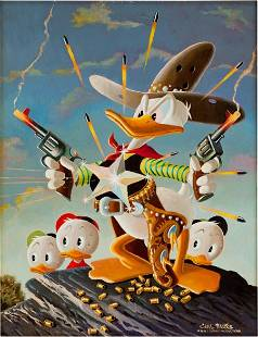 Carl Barks Donald Duck Sheriff of Bullet Valley
