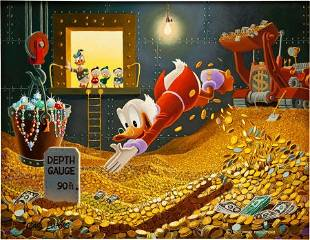 Carl Barks The Sport of Tycoons Painting Origina
