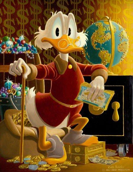 92004: Carl Barks McDuck of Duckburg Painting Original
