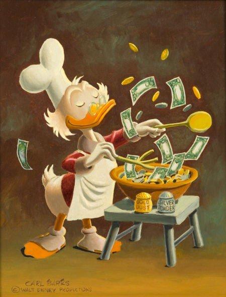 92005: Carl Barks Banker's Salad Painting Original Art
