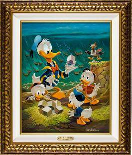 Carl Barks Lost in the Andes Painting Original A