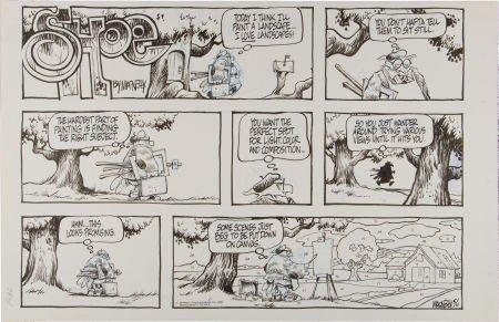 92216: Jeff MacNelly Shoe Sunday Comic Strip Original A