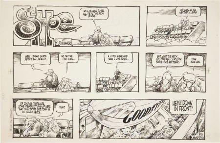 92217: Jeff MacNelly Shoe Sunday Comic Strip Original A