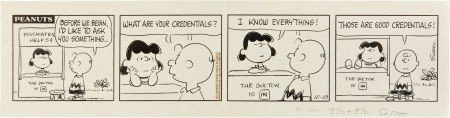 """92307: Charles Schulz Peanuts """"Psychiatric Help Booth"""""""