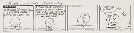 92308: Charles Schulz Peanuts Daily Comic Strip Origina