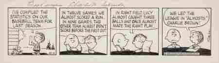 92311: Charles Schulz Peanuts Daily Comic Strip Origina