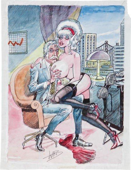 92354: Bill Ward Kinky Adults-Only Juggs Magazine Carto