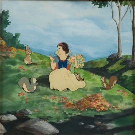 92459: Snow White and the Seven Dwarfs Production Cel S