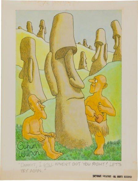 92363: Gahan Wilson Playboy Illustration Original Art (
