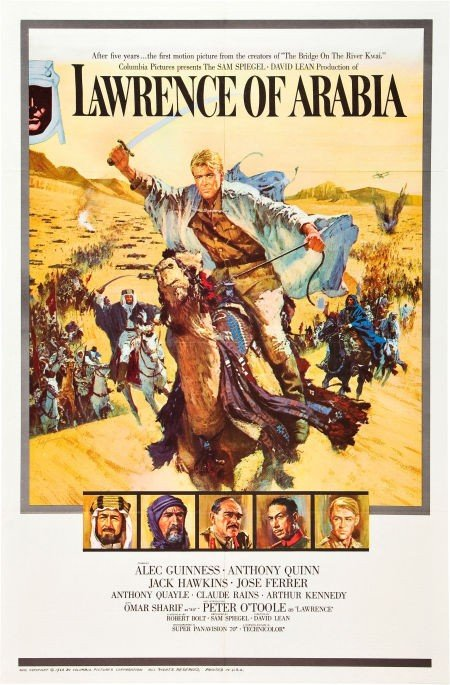 83003: Lawrence of Arabia (Columbia, 1962). One Sheet (