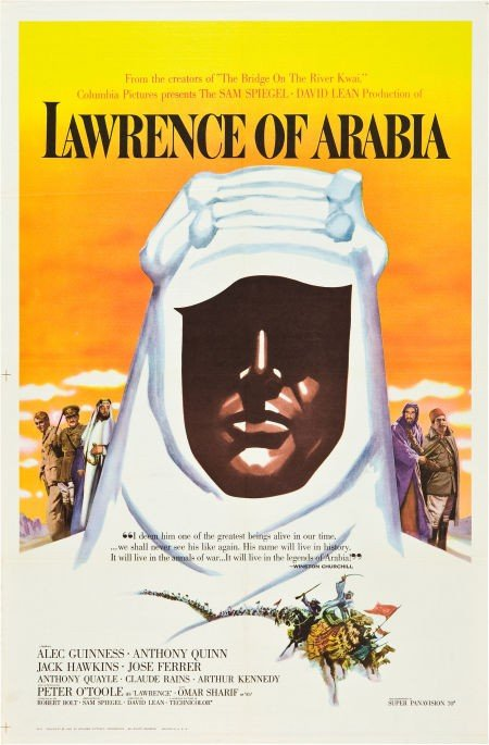 83004: Lawrence of Arabia (Columbia, 1962). One Sheet (