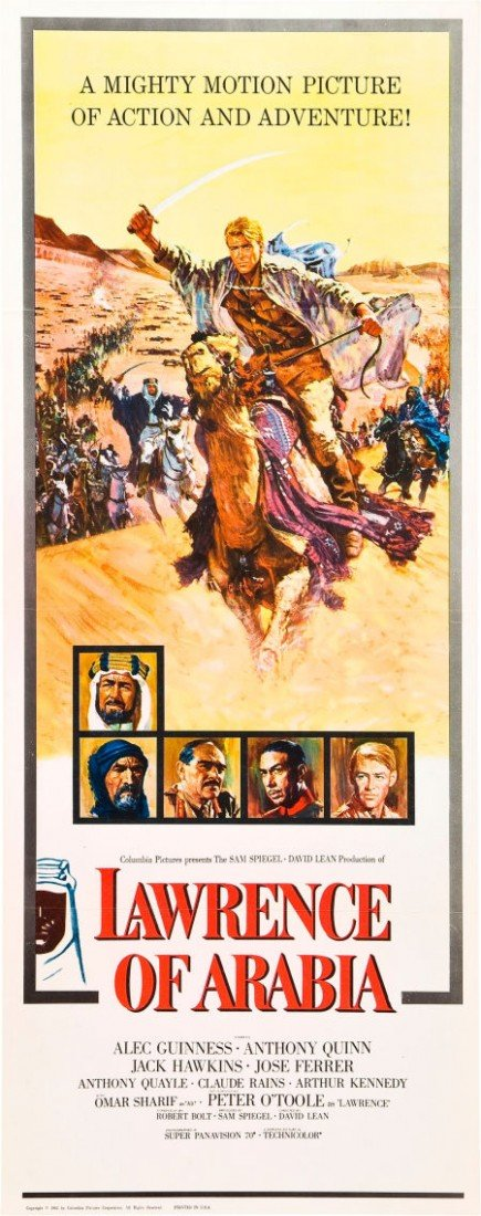 83006: Lawrence of Arabia (Columbia, 1962). Insert (14""