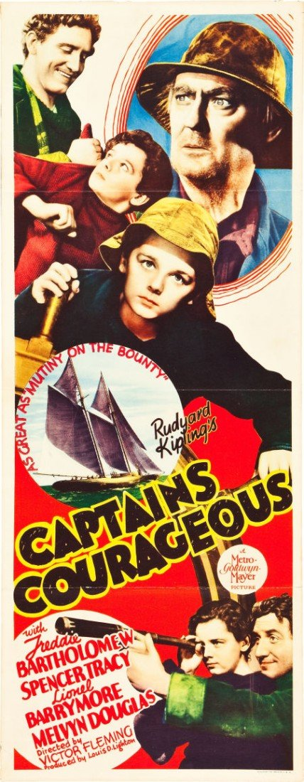 "83011: Captains Courageous (MGM, 1937). Insert (14"" X 3"