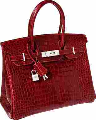 56086: Hermes Exceptional Collection Shiny Rouge H Poro