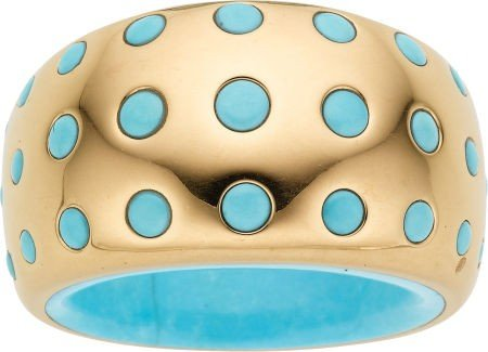 58024: Turquoise, Gold Ring