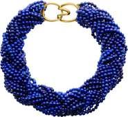 58301 Lapis Lazuli Gold Necklace Angela Cummings Ti