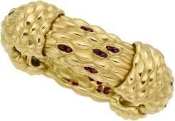58053: Ruby, Gold Bracelet, Angela Cummings