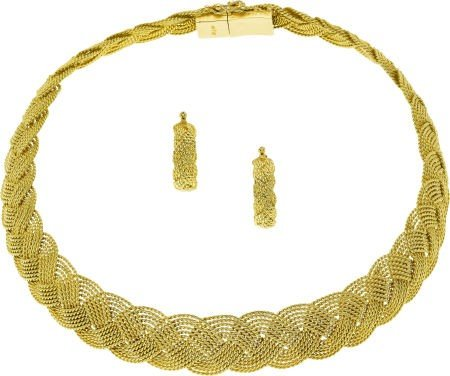 58067: Gold Jewelry Suite, A.G.A. Correa & Son