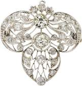 58173 Edwardian Diamond Platinum Brooch