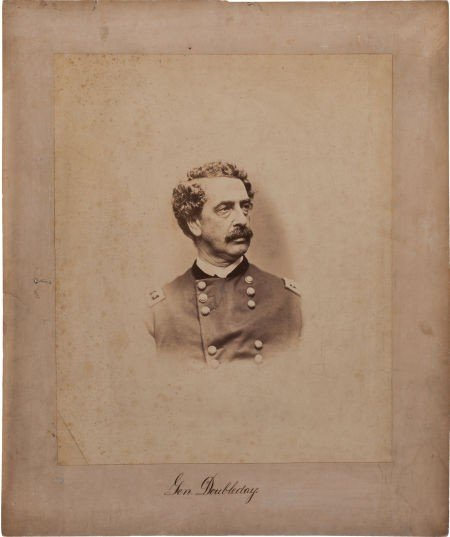"52002: 14 1/4"" X 17 1/2"" Civil War Period Albumen Portr"