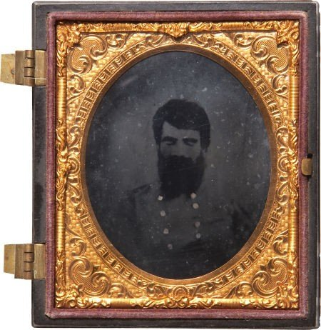 52006: Most Rare Sixth Plate Ambrotype Post Mortem Port